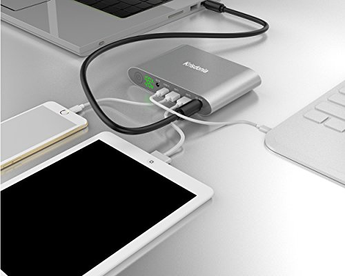 Krisdonia 25000mAh speedy demand 30 mobile or portable Laptop vitality Bank External Battery Charger by means that of  4 PortsType C Port DC Port parallel USB for Laptops Tablets Cell mobile handsets Macbooks Cameras and a great dea External Battery Packs