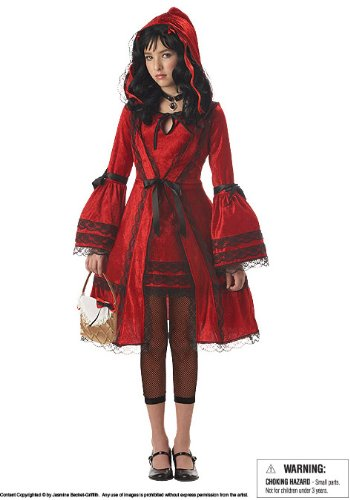 California Costumes Girls Tween Red Riding Hood Costume, (Victorian Red Riding Hood Tween Costumes)