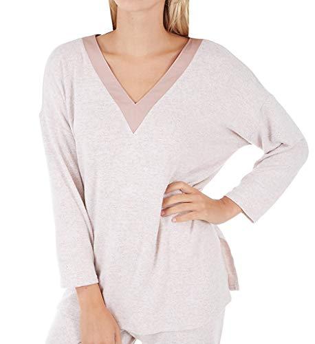 Pajama Dkny Top (Donna Karan Sleepwear Sweater Lounge Top (D246938) 2X/Shell Marl)
