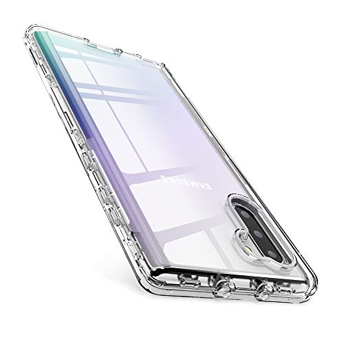 FLOVEME Samsung Galaxy Note 10 Case 6.3 inch, 3 in 1 Full Body Shockproof Protection Clear Phone Case Compatible with Samsung Galaxy Note 10 Armor Case Heavy Duty Bumper Cover (The Best Case For Galaxy Note 3)