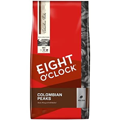 Eight O'Clock Whole Bean Coffee, 100% Colombian Peaks, 40 Ounce by Eight O Clock Coffee Company