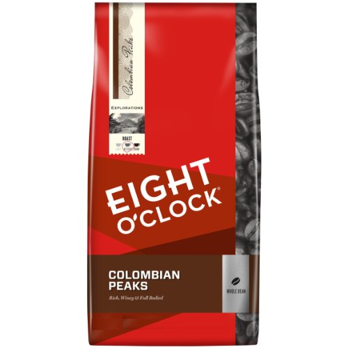 Eight O'Clock Whole Bean Coffee, 100% Colombian Peaks, 40 Ounce by Eight O'Clock Coffee