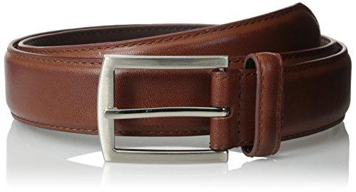 Stacy Adams Men's Brayden Full Grain Leather Belt, Cognac, ()