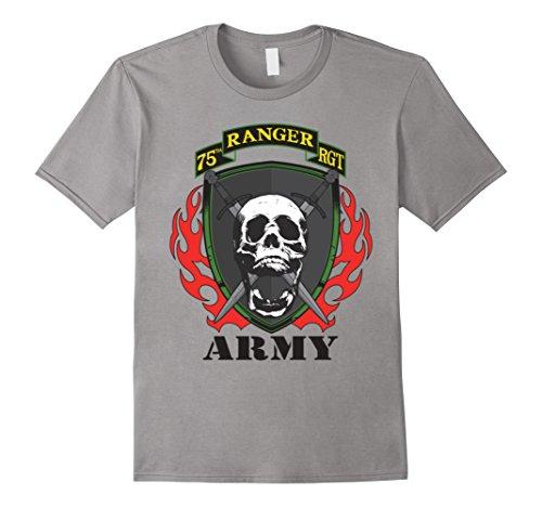Mens Army - 75th Ranger Regiment Tshirt XL Slate