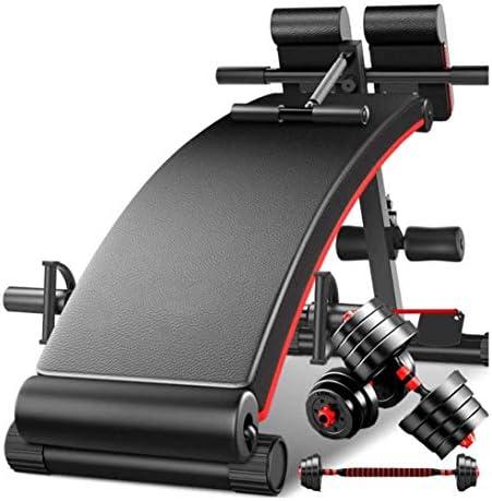 自己フィットネス ジム設備 機能的 ホームジムAbの演習のための多機能シットアップベンチアジャスタブルワークアウト折り畳み式のベンチフィットネス機器(ノーダンベル)