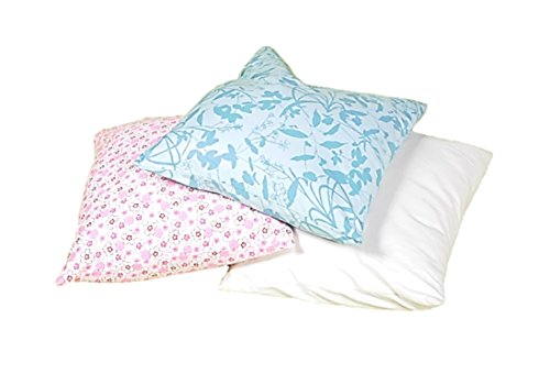 White Lotus Home Organic Buckwheat Standard 20''X26''Pillow in Organic Twill Case W/Zip by White Lotus Home