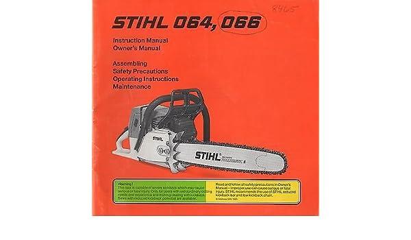 Stihl 066 workshop manual chainsaw.