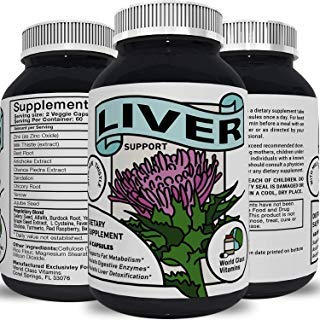 Best Liver Supplements with Milk Thistle - Artichoke - Dandelion Root Support Healthy Liver Function for Men and Women Natural Detox Cleanse Capsules Boost Immune System Relief - World Class ()