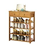 Enolla Multi-Layer Storage Rack with Drawers, Simple and Heavy Personality, Bamboo Plant Frame, Living Room, Bedroom, Environmental Health,A,702575cm
