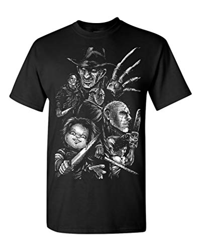 Classic Horror Movie Images Men's T-Shirt - Small Black (ATA097) ()
