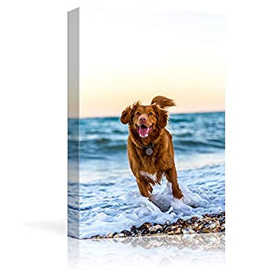 NWT Personalized Pet/Animal Photos to Canvas, Custom Pictures to Print on Wall Art Framed