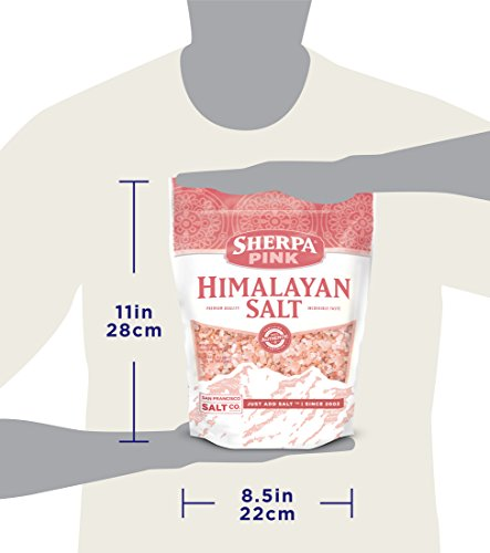 Sherpa Pink Gourmet Himalayan Salt, Coarse/Medium Grain, 5lbs