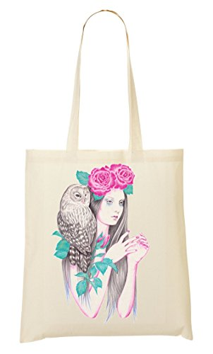 Girl Owl Handbag Shopping Bag