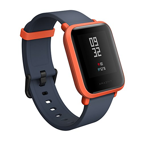 Xiaomi Amazfit Bip Smart watch with GPS Real-time Heart Rate Monitor Water Resistant Sports Fitness Tracker Support iOS and Android for Kids Men Women /US Version (Cinnabar Red)