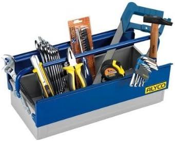 Alyco 192742 - Caja de herramientas metalica de 1 bandeja 462 x ...