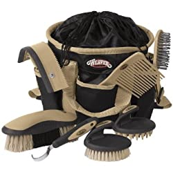 Weaver Leather Grooming Kit, Black/Beige