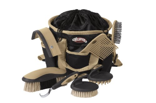 (Weaver Leather Grooming Kit, Black/Beige)