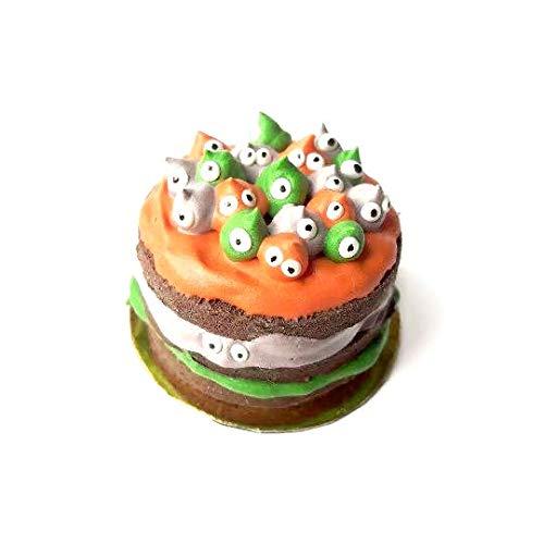 1:12 dollhouse miniature halloween meringue monster cake -