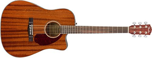 Fender CD-140SCE All Mahogany Acoustic-Electric Guitar with Case - Dreadnaught Body Style - Natural - Dreadnought Mahogany