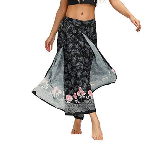 Fansu Damen Haremshose, Sporthose Yogahosen Elegant Blumenmuster Pumphose Leichte Sommerhose Hose Hosen Große Ballonhose…