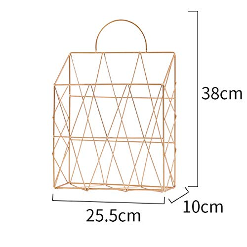 AIYoo File Holder Metal Organizer,Gold Wire Wall Bin Magazine Rack Holder,Storage Basket for Magazine,Books, Newspapers - Modern Office Home Supplies and Decorations. by AIYoo (Image #1)
