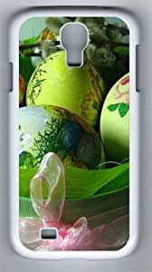 Easter-Holiday-Eggs-Boxes-Tape-Ribbon-Willow-Spring-x PC Hard Case Cover For Samsung Galaxy S4 SIV I9500 Case and Cover White