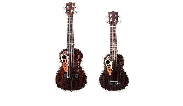 Guitarras Clásicas Negro Color Marrón 21/23 Pulgadas EQ Palo de ...