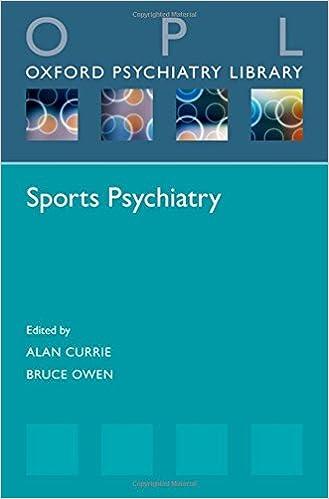 Sports Psychiatry (Oxford Psychiatry Library Series)