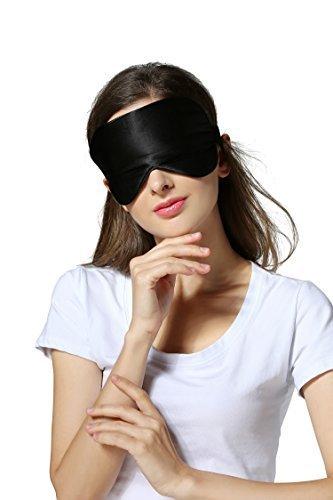Silk Sleeping Mask Eye Cover Comfortable with Adjustable Strap for Night's Sleep, Nap, Ultimate Sleeping Aid, Travel, Meditation