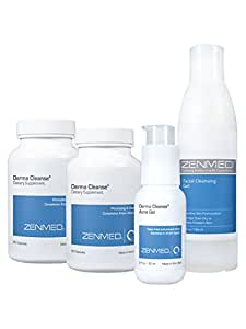 ZENMED Derma Cleanse System Natural Acne Treatment Oral Cleanser Blackhead Pore