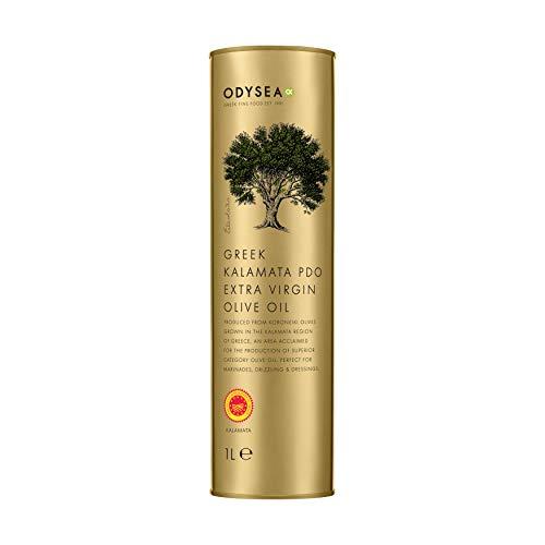 Odysea PDO Kalamata Extra Virgin Olive Oil 1L Round Tin