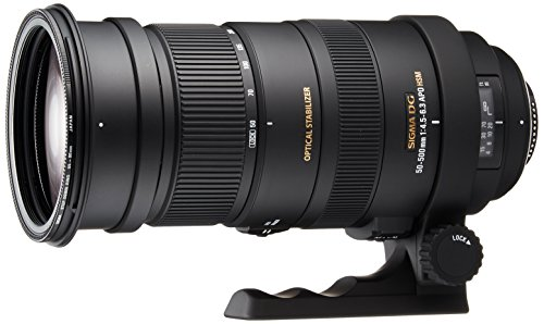 Sigma 50-500mm f/4.5-6.3 APO DG OS HSM SLD Ultra Telephoto Zoom Lens for Nikon Digital DSLR Camera