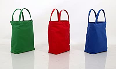 3 Large Shopping bags Eco Friendly Canvas, Pack of 3 Stylish Grocery Reusable Bags Material Save Your Planet and Best For your Shopping and Grocery!