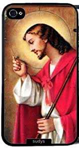linJUN FENGFantasyhome (TM) iphone 5/5s Case Thin Shell pc Case Protective iPhone pc Case Jesus Knocking At Door Christian + Free Wristband Accessory