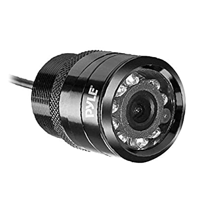 Flush Mount Rear View Camera - Marine Grade Waterproof 1.25'' Cam Built-in Distance Scale Lines Backup Parking/Reverse Assist IR Night Vision LEDs w/ 420 TVL Resolution & RCA Output - Pyle PLCM22IR: Car Electronics