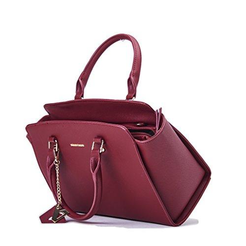 Borsa VALLAEVERDE Donna con accessorio, Ecopelle colore bordeaux, nuova collezione autunno inverno 2017/2018