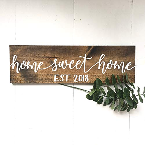 Home Sweet Home Sign Home Sweet Home Established Sign for sale  Delivered anywhere in Canada