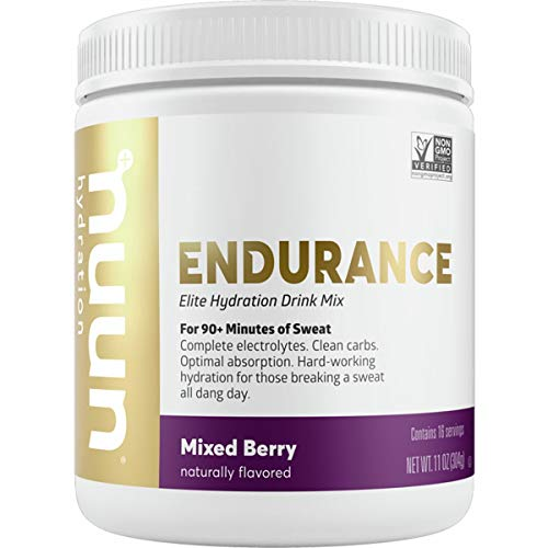 Nuun Endurance Hydration Drink Mix – Canister Mixed Berry, 16 Servings