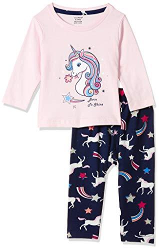 CUCUMBER Baby Girls Regular Clothing Set (Z2052 B_light pink_S)