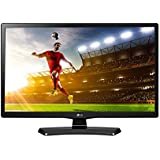 "Monitor TV 24"" HD 24 Pollici Digitale Terrestre DVB-T2 e Satellitare DVB-S2 Black Nero"