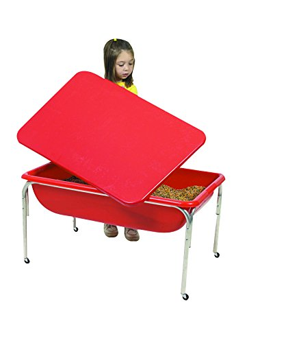- Children's Factory Large Sensory Table & Lid Set for Kids in Red (36 x 24 x 24 in)