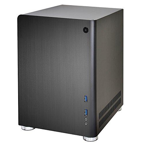Lian-Li Case PC-Q01B Mini Tower 2.5/3.5inch x2 HDD USB Mini-ITX/Mini-DTX PSU Black Retail