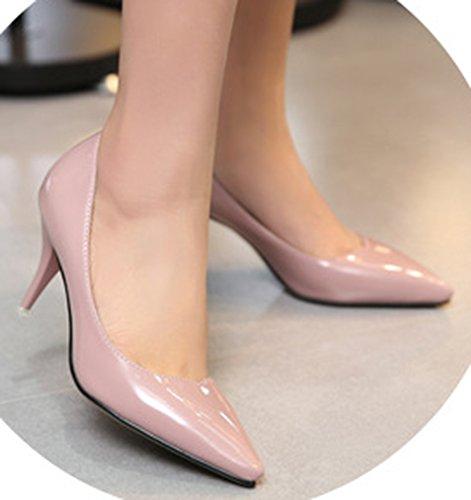 Easemax Mode Féminine Bout Pointu Talon Pompes Pompes Chaussures Nues