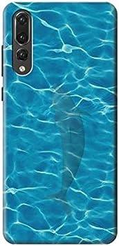 Dolphin Aqua Water Texture Funda Carcasa Case para Huawei P20 Pro