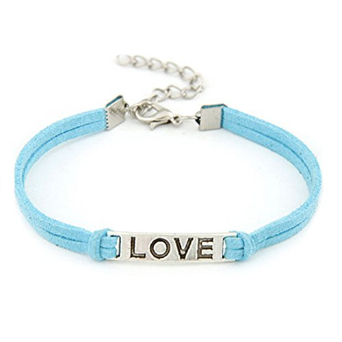 - Sacow 1PC Women Men Love Handmade Alloy Rope Charm Jewelry Weave Bracelet Gift (A)