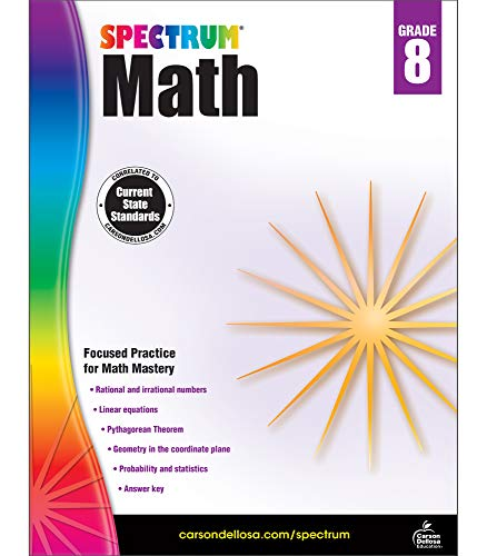 Spectrum | Math Workbook | 8th Grade, 160pgs