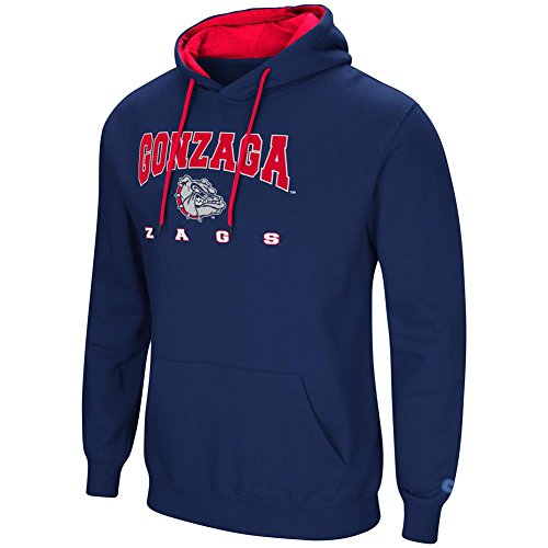 Colosseum Gonzaga University Bulldogs Men's Hoodie Pullover Hooded Sweatshirt (XXX-Large)