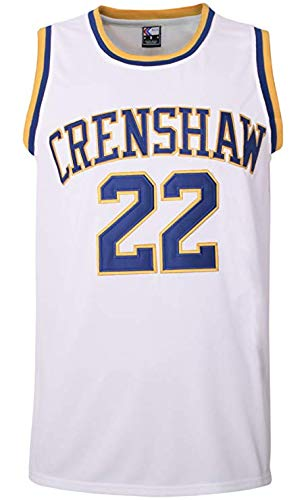 oldtimetown McCall 22 Crenshaw Basketball Jersey S-XXXL White, 90S Hip Hop Clothing for Party, 2-Layer Stitched Letters and Numbers