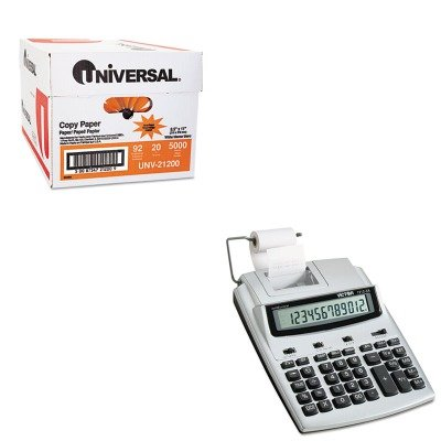 KITUNV21200VCT12123A - Value Kit - Victor 1212-3A AntiMicrobial Two-Color Printing Calculator (VCT12123A) and Universal Copy Paper (UNV21200)