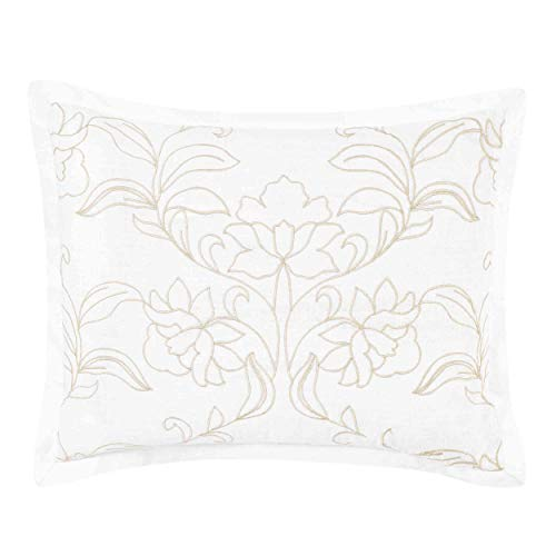 Laura Ashley Claire Throw Pillow, 16x20, Ivory